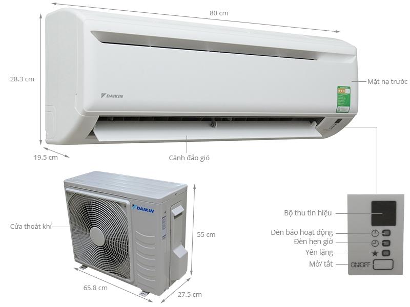 Máy lạnh Daikin 1.5HP (Loại thường) - Thái Lan