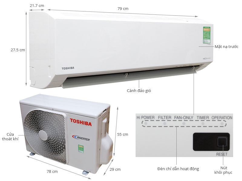 Máy lạnh Toshiba 2.0HP (Inverter)