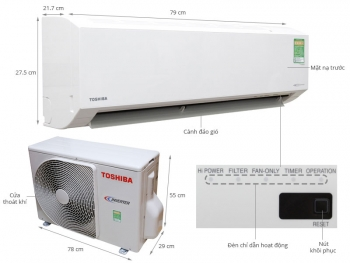may lanh toshiba 2 0hp  inverter