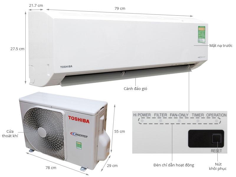 Máy lạnh Toshiba 1.5HP (Inverter)