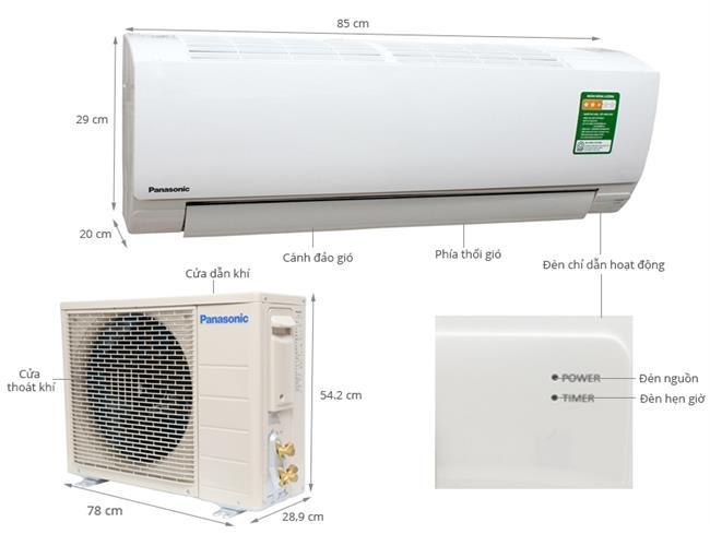 Máy lạnh Panasonic 1.0HP (Loại thường) - Malysia